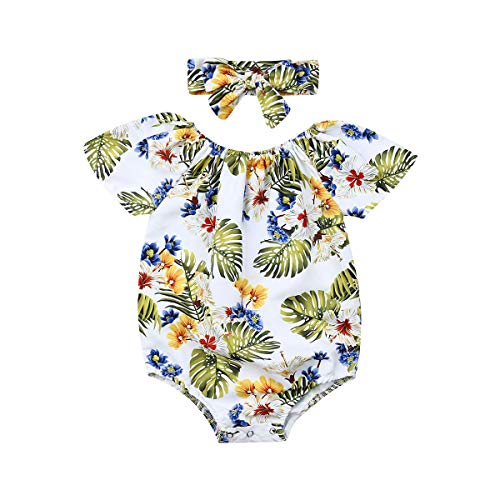 Why Should You Buy Newborn Baby Girl Floral One Piece Jumpsuit Headband Set Print Romper Jumpsuit He...