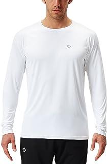 NAVISKIN Men's Quick Dry Lightweight UPF 50+ Long Sleeve Shirts Rash Guard Swim Shirts Hiking Shirts