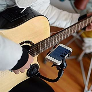 Multifunctional Phone Stand Guitar Sidekick Holder Guitar Hand Free Mount for under 6 inches Phone
