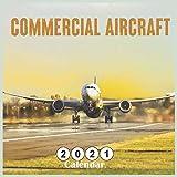Commercial Aircraft 2021 Calendar: 18 Months Square Calendar 2021 Mini Wall Calendar