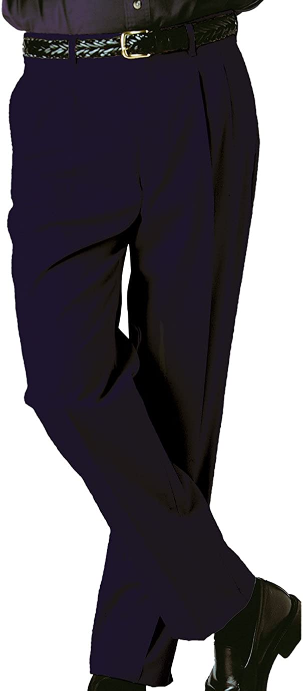Ed Garments Men's Tall Business Casual Chino Pleated Pant, Navy, 32 31