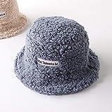 Sombrero de Mujer Sólido y cálido Gorra de Invierno Sombrero de Cubo para Mujer Protección Solar al Aire Libre Sombrero de señora Gorra-Type2 Gray