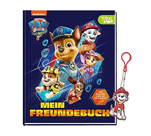 PAW Patrol - Der Kinofilm: Mein Freundebuch + 1 Paw Patrol Schlüsselanhänger   Freundebuch   Eintragbuch für Kinder ab 4 Jahren