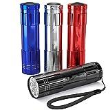 Elegante LED-Mini-Taschenlampe, 4 Stück, Aluminiumlegierung, Notfall-Taschenlampe für Outdoor-Aktivitäten -