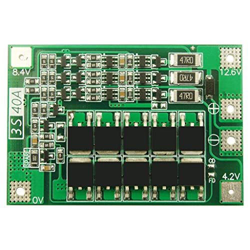 Karrychen 3S 40A Li-Ion Cargador de batería de Litio Módulo de celda Lipo PCB Placa de protección BMS para Motor de Taladro 12,6 V con Equilibrio- BA #