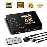 commutateur HDMI prise en charge HDCP 1080p 5 en 1 sortieHDMI Splitter amplificateur...