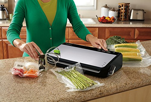 FoodSaver FM2435 Vacuum Sealer Machine with Bonus Handheld Sealer and Starter Kit   Safety Certified   Silver