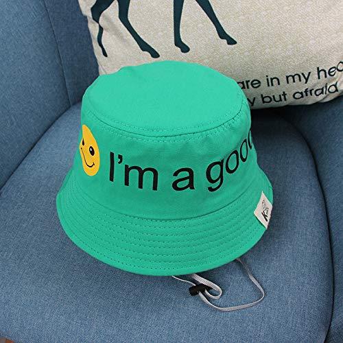 wtnhz Artículos de Moda Sombrero de Pescador para niños Sombrero de bebé Sonriente Lindo Sombrero de Sol para niños de Sombra al Aire libreRegalo de Vacaciones