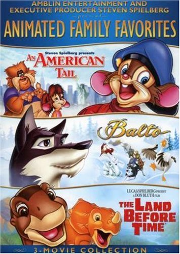 Amblin/Spielberg Animated Family Favorites 3-Movie Collection (An American Tale / Balto / The Land Before TIme)