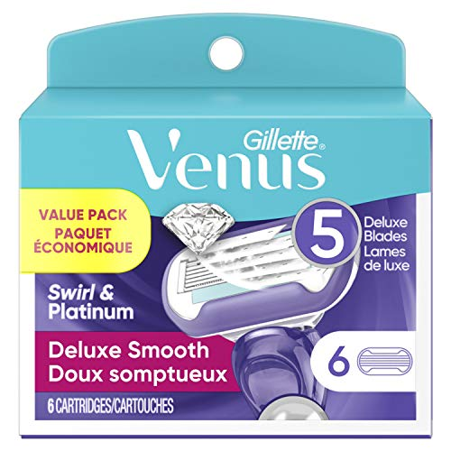Gillette Venus Women's Swirl 5 Contour Blade Razor Refills, 6 Count