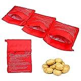 Lsydgn Borsa per microonde per patate Sacchetti per patate al microonde Cuocipatate microonde sacchetto di cottura lavabile riutilizzabile per forno a microonde (4 pezzi)