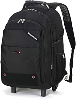 GLJJQMY Travel Computer Bag Trolley Bag Oxford Cloth Waterproof Business Luggage Trolley Case (Black) Trolley Backpack (Color : Black, Size : 37x19x51cm)
