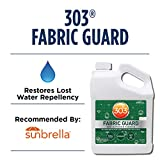 303 (30607) Products Fabric Guard - For Outdoor Fabrics - Restores Water Repellency To Factory New Levels - Repels Moisture And Stains - Manufacturer Recommended - Safe For All Fabrics, 128 fl. oz.