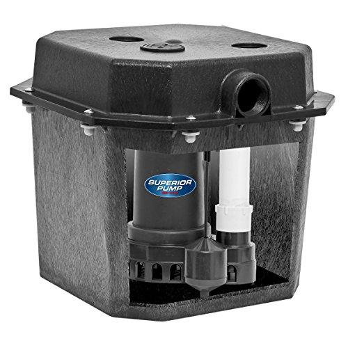 Superior Pump 92072 1/3 HP Pre-Assembled Submersible Remote Sink Drain Pump System
