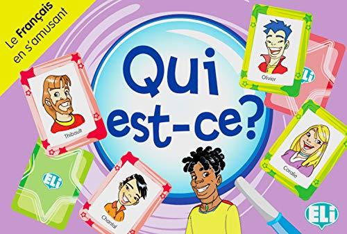 Qui est-ce?: Le Français en s'amusant. 2 Kartenstöße von je 33 Karten, Spielanleitung