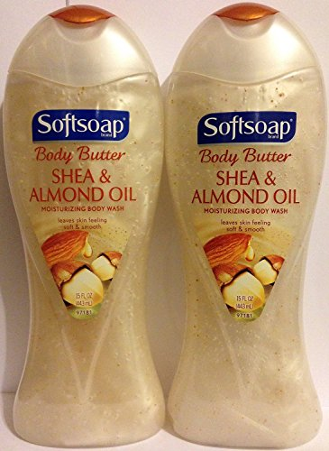 Softsoap Ultra Rich Shea Butter and Almond Oil Moisturizing Body Wash 15 oz (Pack of 2)