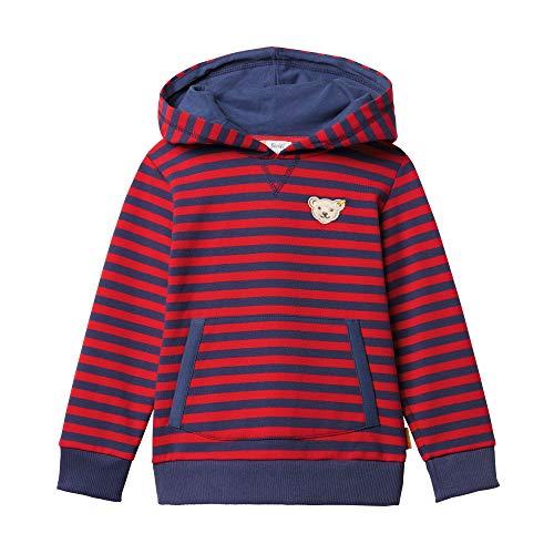 Steiff Baby - Jungen Sweatshirt , Rot (TANGO RED 4008) , 86 (Herstellergröße:86)