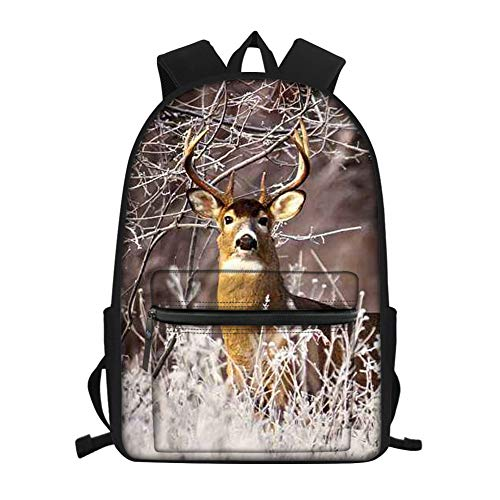 Cute Elk Backpack Fashion Novelty School Bookbags Casual Travel Daypack for Teen/Kids/Boys/Girls
