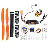 VGEBY Parts & Accessories 2212 KV1400 Motor + 40A XT60T ESC + SG90 Servo + 8060 Propeller Kit RC Helicopter Accessory Fit for RC Drone Aircraft F PV