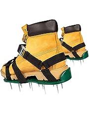 HBDY Gazon beluchter schoenen, handmatige gazon beluchters 26 spikes beluchting gazon sandalen, verstelbare bandjes en scherpere spikes voor effectief beluchten gazon en gras