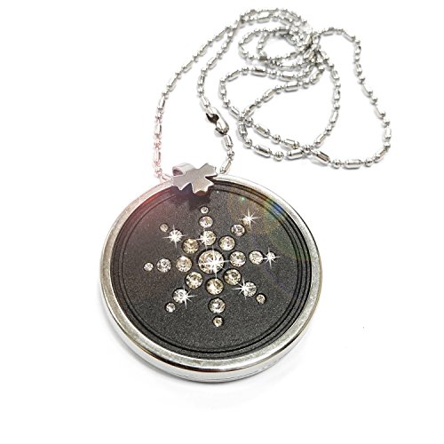 EMF Protection Anti Radiation Simulated Diamond Pendant Nickel Plated Ball Chain Necklace EMF Absorption from Cell Phone, WiFi, Laptop and Other EMF Devices