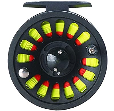 Yiwa 1+1B Bearing Fly Fishing Reel Fishing Line + Extension Line+Taper Leader+Tippet Set by Yiwa