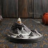 incense cones and holder - Jeteven Waterfall Incense Burner Sticks Holder, Ideal for Yoga Room Home Decoration & Handicraft Gift (Dragon)