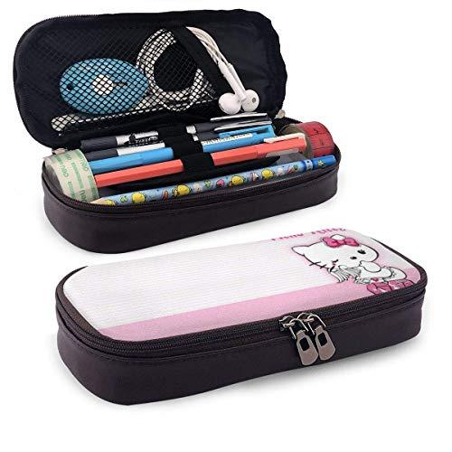 Federmäppchen Angel Hello Kitty Große Kapazität Bleistiftbeutel Make-up Federbeutel Briefpapier mit Doppelreißverschluss Stifthalter für Schule/Büro