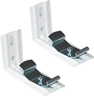 """CUTELEC L Bracket 4Pack for 3.5"""" (89mm) Vertical Blinds White Installation Brackets with Clips"""