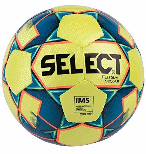 SELECT Mimas, Pallone da Calcio Unisex-Adulto, Giallo/Blu, Official Size