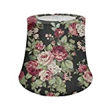 doginthehole Modern Trendy Decorative Handmade Lamp Shade Floral Print Floor Lamps Shade,Styled Decor Table...