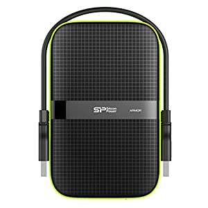Silicon Power 1TB Black Rugged Portable External Hard Drive Armor A60, Shockproof USB 3.1 Gen 1 for PC, Mac, Xbox and…