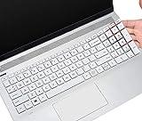 Keyboard Cover for HP Envy x360 2-in-1 15.6' Fingerprint Reader 15M-ED0013DX/0023DX/1013dx/1023dx EE0013DX/0023DX, 17.3' HP Envy 17M CG0013DX cg1013dx cg100 cg0019nr with Fingerprint Reader, White