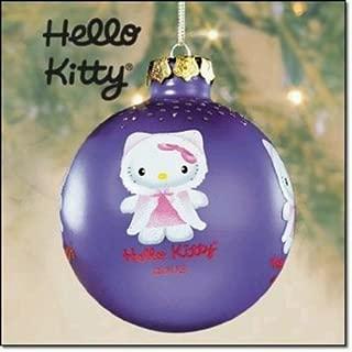 Hello Kitty 2003 Purple Glass Christmas Tree Ornament (3