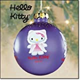 Hello Kitty 2003 Purple Glass Christmas Tree Ornament (3' Wide) in the Original Store Display Box