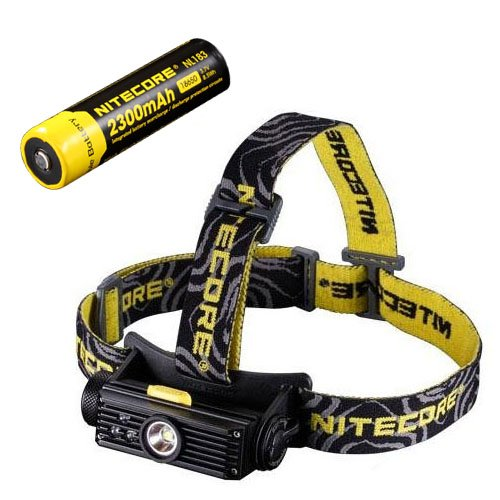 Combo: Nitecore HC90 Rechargeable Headlamp & NL183 2300mAh Rechargeable 18650 Battery