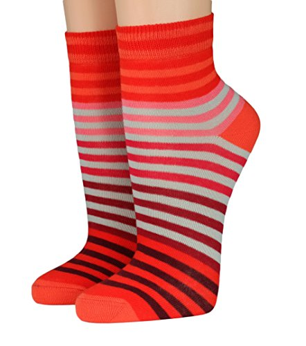 CRÖNERT Socken Kurzsocken Söckchen Multiringel bunte Ringel mit Weichb& 165802 (35-38, orange 1570)