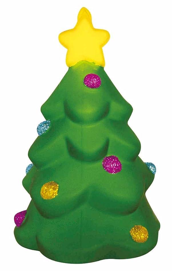 社交的欲しいですアレルギー性クリスマス サンタの森シリーズ ガラス置物 ツリー