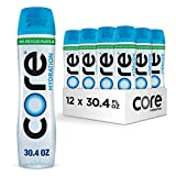 CORE Hydration, 30.4 Fl. Oz (Pack of 12), Nutrient Enhanced Water, Perfect 7.4 Natural pH, Ultra-Purified with Electrolytes and Minerals, Cup Cap for Sharing