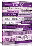 Inspirational Wall-Art - Office Wall Decor for Bedroom Teen Girl - Wall Pictures for Living Room - Word Artwork for Home Walls Teenage Girl Room Decor Size 16x24