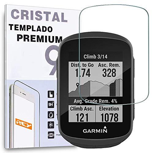 REY - Protector de Pantalla para Garmin 130-130 Plus, Cristal Vidrio Templado Premium