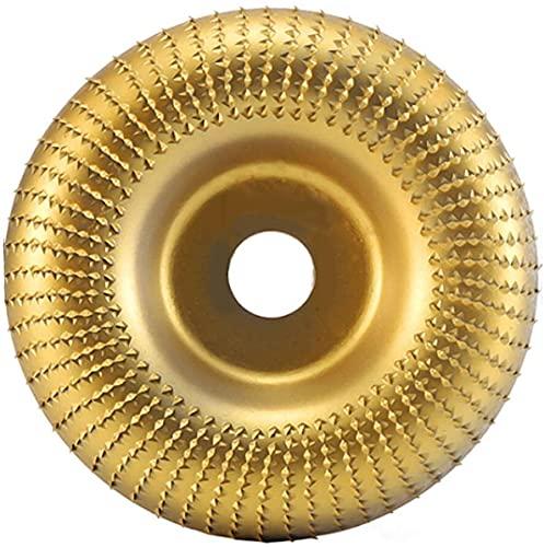 4inch Flap Disc Moler Rueda Ángulo Ángulo Amoladora Abrasivo Disco Lijado Talla Herramienta Metal Pulido Carpintería 100mm Diámetro 16 mm Lana Lana Fácil Poli Rapid (Color : Gold)
