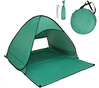 JU SHUN Pop Up strandtält – UPF 50+ UV-skydd, UV-strandtält vattentätt för 2–3 personer med skuggpool för familjecamping –...
