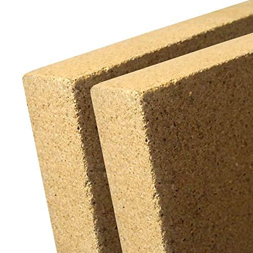 V1-30-2x - Vermiculite Platte - Schamotte Ersatz für Kaminöfen - Stärke: 30 mm - Maße: 400 x 300 mm - 2 Stück