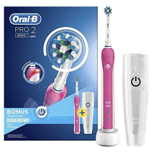 Oral-B Pro 2 2500 CrossAction - Cepillo de dientes eléctrico recargable por...