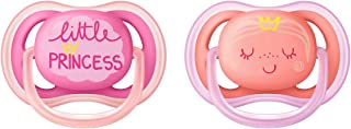 Philips Avent Ultra Air Pacifier, 6-18 months, pink/peach, fashion decos, 2 pack, SCF343/22