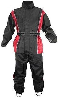motvrcycle Biker防水Rain Suit with Heatproof on脚( XL )