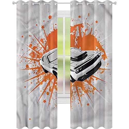 Cortinas para sala de estar, coches clásicos, deportivos, W52 x L63, cortina, reducción de ruido