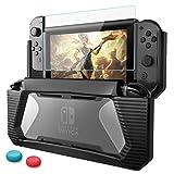 HEYSTOP Nintendo Switch Coque avec Protection Écran,Protection Switch, TPU PC Coque de Protection...
