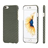 pitaka iPhone 6 / iPhone 6s Hülle, Aramid-Faser [Kugelsicheres Material] Handyhülle Dünne(0.65mm)...